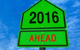 2016 ahead roadsign